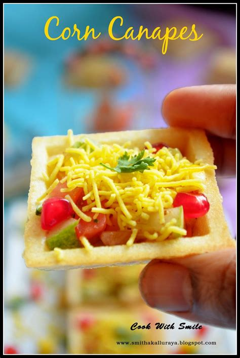 what does canape corn canapes corn sev canapes indian canapes recipe