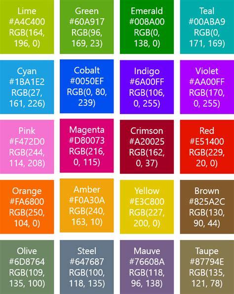 phone color code windows phone 8 theme colors hex rgb ui design