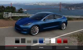 Tesla Model 3 Colors