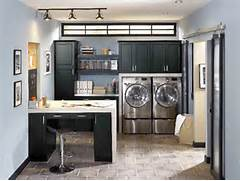Kitchen Laundry Room Design by Makeover Laundry Room Design With Washer Dryer Storage Under Wooden Cabinet P