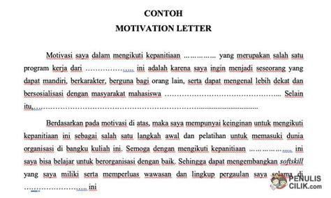 contoh motivation letter  beasiswa  berbagai