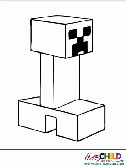 Minecraft Pages Creeper Coloring Colouring Projects Creepers