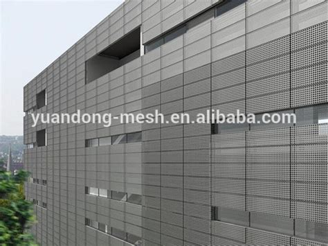 faux leather panel stainless steel perforated decorative exterior wall panels
