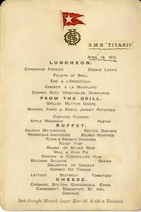 titanic 39 s last menu fetches 76 000 at auction