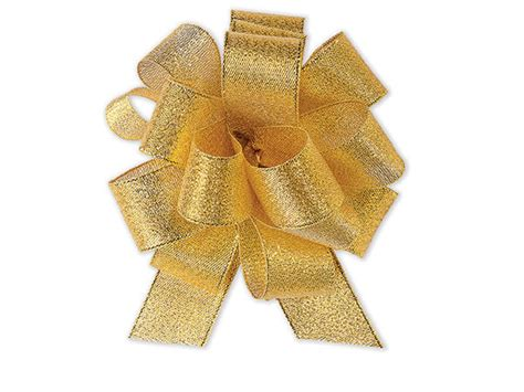 4 12 Metallic Shimmery Gold Fabric Pull Bow 12 Pack