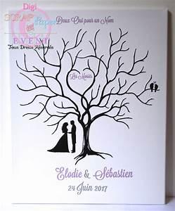 Arbre A Empreinte : arbre empreintes mariage sur toile 40 50 wedding pinterest empreinte toiles et mariages ~ Preciouscoupons.com Idées de Décoration
