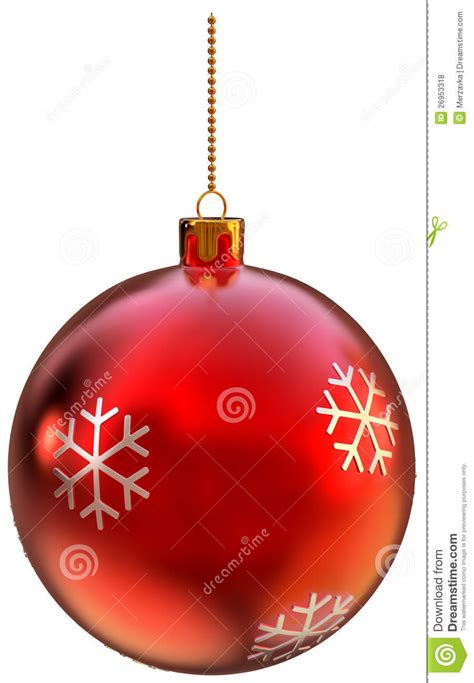 red christmas ball  white background royalty  stock