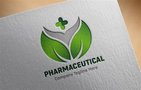 Pharmaceutical Logo Design Free psd Template - GraphicsFamily