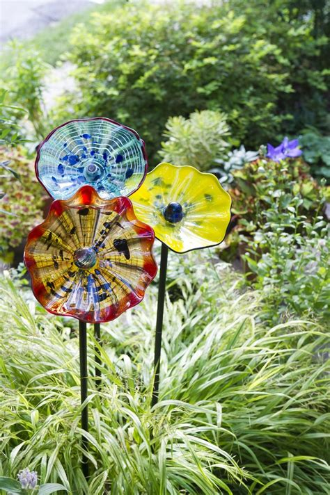 Art Glass Flower  Garden Art Stakes  Gardener's Supply