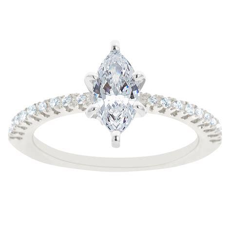 new york city diamond district 14k white gold marquise