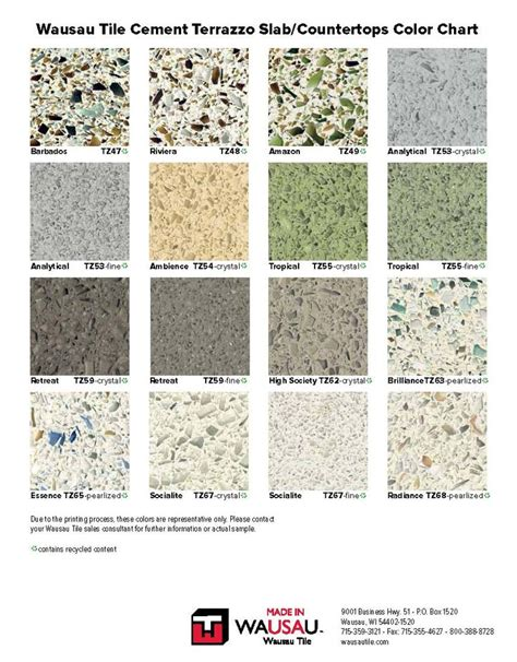 Wausau Terrazzo color chart pg2 | Industrial kitchen ideas ...
