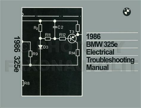 1986 bmw 325e electrical troubleshooting manual wiring diagram book 325 e ebay