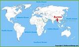 Burma location on the World Map