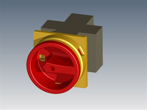 Main Power Switch  Step  Iges,autodesk Inventor  3d Cad