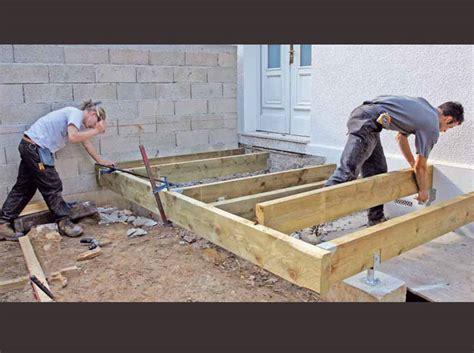 nivrem comment construire une terrasse en bois traite diverses id 233 es de conception de