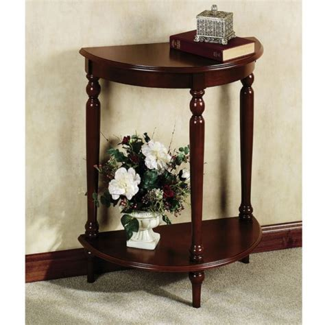 Furniture. Small Oak Foyer Table With Drawer And High