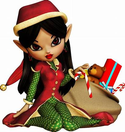 Dolls Christmas Clip Cookie Poser Tubes Clipart