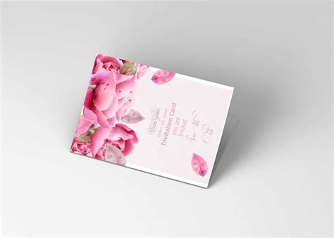 All free mockups consist of unique design with smart object layer for easy edit. Free Folded Invitation Card PSD Mockup PSD Mockup | Free ...