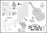 Menu Restaurant Coloring Covers Children Border Southwest Menus Placemats Microsoft Word sketch template