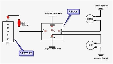 12v Relay Schematic Diagram by Great Wiring Diagram For Horn Relay Horn Relay Simple