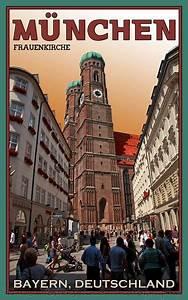 Vintage Shop München : munich frauenkirche postcard munich vintage posters and travel posters ~ Orissabook.com Haus und Dekorationen