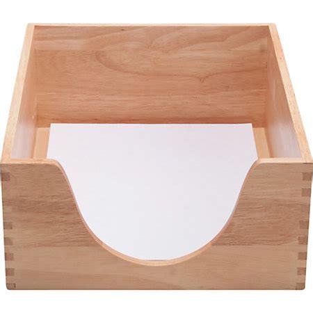 wood desk letter tray carver double deep wood desk tray letter oak by office