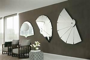 Decoration Murale Miroir : d co murale salon en 50 id es originales et modernes ~ Teatrodelosmanantiales.com Idées de Décoration