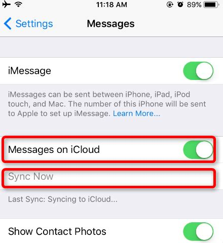 how to turn text messages on iphone how to enable ios 11 message sync on iphone