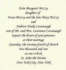 Wording for wedding invitations widowed remarried parent for Wedding invitation wording both parents hosting one deceased