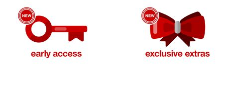 Maybe you would like to learn more about one of these? REDcard Exclusive Extras & Early Access : Target