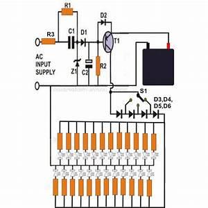 Emergency Light Circuit Diagram Free