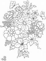 Coloring Flower Bouquet Pages Flowers Drawing Rose Pretty Embroidery Printable Bouquets Colorluna Patterns Luna Bunch Pattern Colorings Colouring Hand Adult sketch template