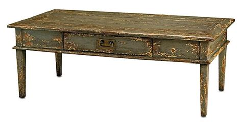 sage blue distressed coffee table home pinterest