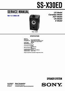 Sony Ss-x30ed Service Manual