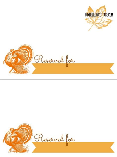 thanksgiving printable place cards festival collections