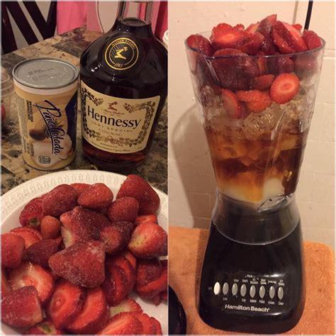 strawberry hennessy ideas  pinterest