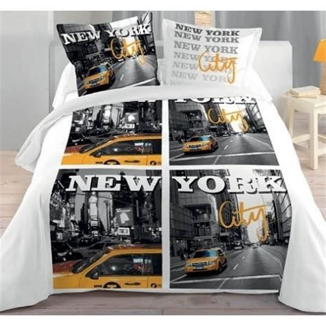 chambre deco york ado york city housse couette 2 taies lit 2 personnes