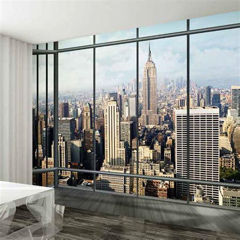 york skyline window  wall murals touch  modern