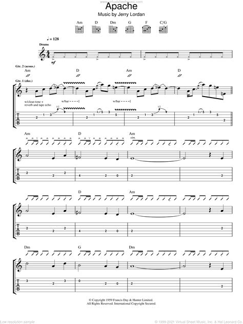 They are all downloadable for free in printable pdf. Shadows - Apache sheet music for guitar (tablature) PDF