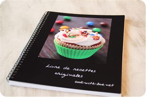 faire un livre de cuisine idée créer livre de recettes personnalisé