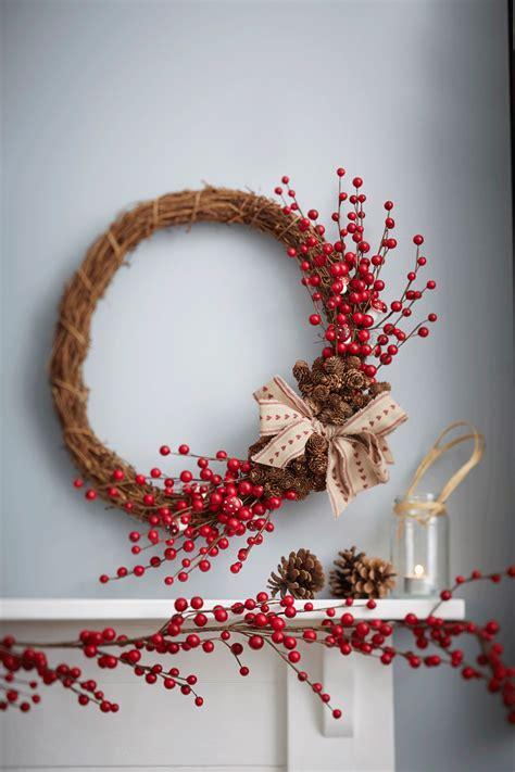 wicker christmas decor how to make a rattan wreath hobbycraft