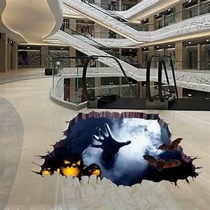 Halloween horrible 3d floor sticker bedroom living room for How to create 3d floor graphics