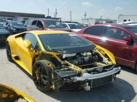 salvage lamborghini cars  sale  auction