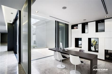 modern office design modern mansion with interiors by saota