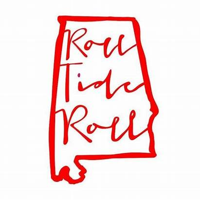 Alabama State Tide Roll Decal Monogram Vinyl