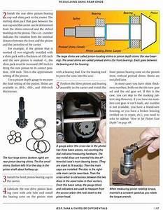 Rebuild Setup Manual Mopar Rear End 8 25  8 75  U0026 Dana 60