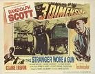 The Stranger Wore A Gun 1953 Original Movie Poster Western ...