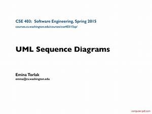 Pdf  Uml Sequence Diagrams Free Tutorial For Beginners
