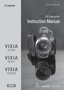 Canon Vixia Hf R11 User Manual