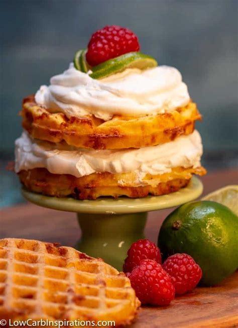 keto key lime pie chaffle recipe   keto cake